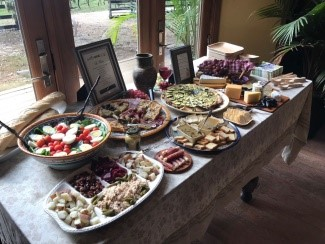 Photo of banquet table food